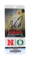 2016 Armstrong Autographed Oregon Game Ticket Nebraska Cornhuskers, 2016 Armstrong Autographed Oregon Game Ticket