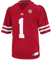 Adidas #1 Replica Game Jersey Nebraska Cornhuskers, Nebraska  Mens Jerseys, Huskers  Mens Jerseys, Nebraska  Mens Jerseys, Huskers  Mens Jerseys, Nebraska Adidas Number 1 Red Jersey, Huskers Adidas Number 1 Red Jersey