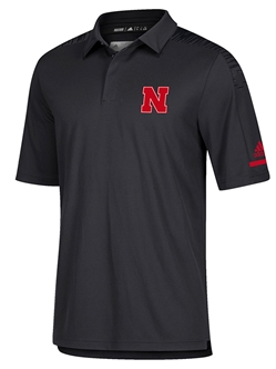 Adidas 2018 Husker Coaches Sideline Polo - Black Nebraska Cornhuskers, Nebraska  Mens Polo's, Huskers  Mens Polo's, Nebraska Polo's, Huskers Polo's, Nebraska Adidas 2018 Husker Coaches Sideline Polo - Black, Huskers Adidas 2018 Husker Coaches Sideline Polo - Black