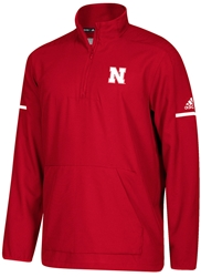 Adidas 2018 Nebraska Coaches Quarter Zip - Red Nebraska Cornhuskers, Nebraska  Mens Outerwear, Huskers  Mens Outerwear, Nebraska  Mens , Huskers  Mens , Nebraska Adidas 2018 Nebraska Coaches Quarter Zip - Red, Huskers Adidas 2018 Nebraska Coaches Quarter Zip - Red