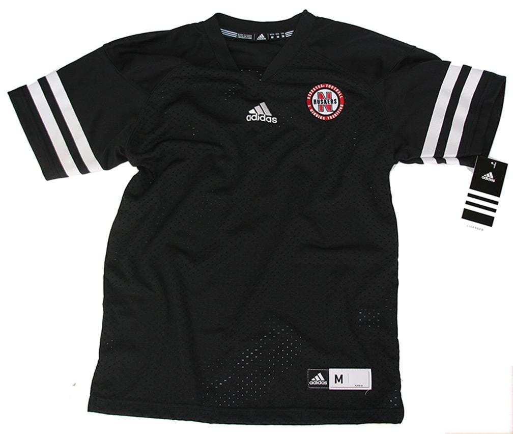 Youth Adidas Black Customized Jersey