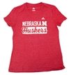 Adidas Girls Vneck Stack Huskers Bar Tee Nebraska Cornhuskers, Nebraska  Youth, Huskers  Youth, Nebraska  Kids, Huskers  Kids, Nebraska Adidas Girls Vneck Stack Huskers Bar Tee, Huskers Adidas Girls Vneck Stack Huskers Bar Tee