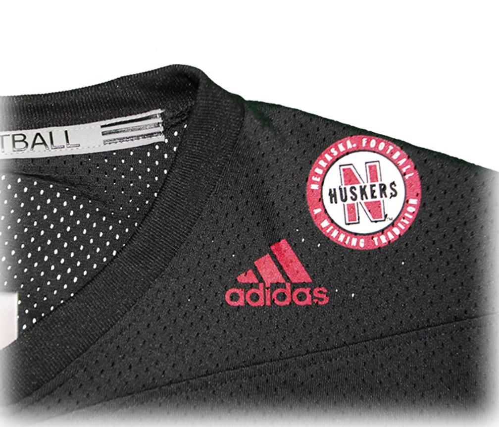 Adidas Ladies Nebraska Football Crop Jersey - Black