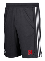Adidas Nebraska 3 Stripe Knit Short Nebraska Cornhuskers, Nebraska  Mens Shorts & Pants, Huskers  Mens Shorts & Pants, Nebraska Shorts & Pants, Huskers Shorts & Pants, Nebraska Adidas Nebraska 3 Stripe Knit Short, Huskers Adidas Nebraska 3 Stripe Knit Short