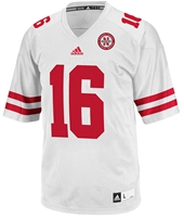 Adidas Away Game #16 Replica Jersey Nebraska Cornhuskers, husker football, nebraska cornhuskers merchandise, nebraska merchandise, husker merchandise, nebraska cornhuskers apparel, husker apparel, nebraska apparel, husker mens apparel, nebraska cornhuskers mens apparel, nebraska mens apparel, husker mens merchandise, nebraska cornhuskers mens merchandise, mens nebraska jersey, mens husker jersey, mens nebraska cornhusker jersey,WHITE #16 JERSEY