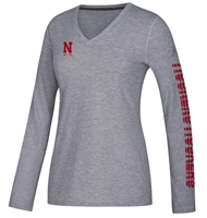 Adidas Womens Husker Moves Vneck Nebraska Cornhuskers, Nebraska  Ladies T-Shirts, Huskers  Ladies T-Shirts, Nebraska  Ladies, Huskers  Ladies, Nebraska  Long Sleeve, Huskers  Long Sleeve, Nebraska Adidas Womens Husker Moves Vneck , Huskers Adidas Womens Husker Moves Vneck