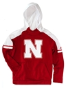 Adidas Youth Player Husker N Hoodie Nebraska Cornhuskers, Nebraska  Youth, Huskers  Youth, Nebraska  Kids, Huskers  Kids, Nebraska Youth Player Hood Red Hoodie, Huskers Youth Player Hood Red Hoodie