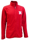 Antigua Fleece Full Zip Iron N Cadet Jacket Nebraska Cornhuskers, Nebraska  Mens Outerwear, Huskers  Mens Outerwear, Nebraska  Mens, Huskers  Mens, Nebraska Red Fleece Jacket Full Zip Ant, Huskers Red Fleece Jacket Full Zip Ant