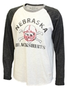 Blackshirts Triblend Raglan Nebraska Cornhuskers, Nebraska  Mens T-Shirts, Huskers  Mens T-Shirts, Nebraska  Mens, Huskers  Mens, Nebraska Blackshirts, Huskers Blackshirts, Nebraska  Long Sleeve, Huskers  Long Sleeve, Nebraska Raglan LS Triblend Blackshirts RB, Huskers Raglan LS Triblend Blackshirts RB