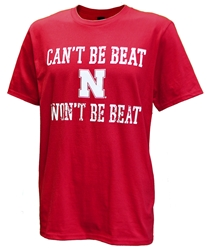 Cant Be N Wont Be Beat Tee Nebraska Cornhuskers, Nebraska  Mens T-Shirts, Huskers  Mens T-Shirts, Nebraska  Mens, Huskers  Mens, Nebraska  Short Sleeve, Huskers  Short Sleeve, Nebraska Cant Be N Wont Be Beat Tee, Huskers Cant Be N Wont Be Beat Tee