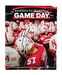 Coach Frost Autographed First Win Game Program Nebraska Cornhuskers, Coach Frost Autographed 2018 Spring Game Ticket