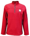 Colosseum Huskers Advantage Quarter Zip Jacket Nebraska Cornhuskers, Nebraska  Mens Outerwear, Huskers  Mens Outerwear, Nebraska  Mens, Huskers  Mens, Nebraska Red Advantage 14 Zip Jacket Col, Huskers Red Advantage 14 Zip Jacket Col