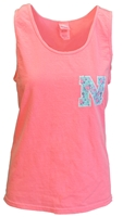 Floral - N - Tropical Tank Nebraska Cornhuskers, Nebraska  Ladies T-Shirts, Huskers  Ladies T-Shirts, Nebraska  Ladies, Huskers  Ladies, Nebraska  Short Sleeve, Huskers  Short Sleeve, Nebraska Neon Orange Bro Tank Floral N Blue 84, Huskers Neon Orange Bro Tank Floral N Blue 84