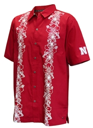 Go Big Red Island Camp Shirt Nebraska Cornhuskers, Nebraska  Mens Polo's, Huskers  Mens Polo's, Nebraska Polo's, Huskers Polo's, Nebraska Go Big Red Island Camp Shirt, Huskers Go Big Red Island Camp Shirt