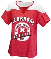 Go Big Red Ladies Tracker Top Nebraska Cornhuskers, Nebraska  Ladies Tops, Huskers  Ladies Tops, Nebraska  Ladies T-Shirts, Huskers  Ladies T-Shirts, Nebraska  Ladies, Huskers  Ladies, Nebraska Red W SS Contrast Color Plus Klutch, Huskers Red W SS Contrast Color Plus Klutch