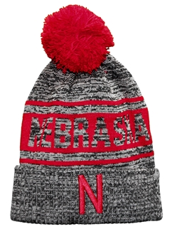 Nebraska Two Toned Cuffed Pom Knit Nebraska Cornhuskers, Nebraska  Mens Hats, Huskers  Mens Hats, Nebraska  Mens Hats, Huskers  Mens Hats, Nebraska Gray Two Tone Nebraska Two Toned Cuffed Pom Knit, Huskers Gray Two Tone Nebraska Two Toned Cuffed Pom Knit