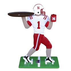 Hail Mary Husker Tray Nebraska Cornhuskers, NE Helmet Tray Table