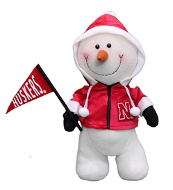 Happy Hoodie Husker Snowman Nebraska Cornhuskers, Nebraska  Holiday Items, Huskers  Holiday Items, Nebraska  Childrens, Huskers  Childrens, Nebraska Happy Hoodie Husker Snowman, Huskers Happy Hoodie Husker Snowman