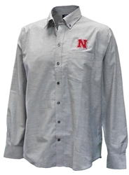 Cutter N Buck Husker Oxford Nebraska Cornhuskers, Nebraska  Mens Polo's, Huskers  Mens Polo's, Nebraska Polo's, Huskers Polo's, Nebraska Husker Cutter and Buck Oxford, Huskers Husker Cutter and Buck Oxford