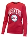 Husker Gals Elbow Patch LS Tee - AT-B6334