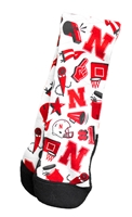 Husker Icons Rockem Youth Socks Nebraska Cornhuskers, Nebraska  Youth, Huskers  Youth, Nebraska  Kids, Huskers  Kids, Nebraska Husker Icons Rockem Youth Socks, Huskers Husker Icons Rockem Youth Socks