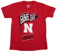 Husker Kids Gameday Pennant Tee Nebraska Cornhuskers, Nebraska  Childrens, Huskers  Childrens, Nebraska  Kids, Huskers  Kids, Nebraska Red SS Gameday Pennant Tee WW, Huskers Red SS Gameday Pennant Tee WW