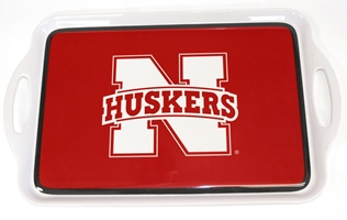 Husker Melamine Serving Trays Nebraska Cornhuskers, Nebraska  Summer Fun, Huskers  Summer Fun, Nebraska  Tailgating, Huskers  Tailgating, Nebraska  Kitchen & Glassware, Huskers  Kitchen & Glassware, Nebraska Husker Melamine Serving Trays, Huskers Husker Melamine Serving Trays