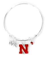 Husker N Wire Charm Band Bracelet Nebraska Cornhuskers, Nebraska  Jewelry & Hair, Huskers  Jewelry & Hair, Nebraska  Ladies Accessories, Huskers  Ladies Accessories, Nebraska  Ladies, Huskers  Ladies, Nebraska Wire Charm Band Bracelet Sandol, Huskers Wire Charm Band Bracelet Sandol