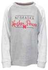 Husker Power Script Oatmeal Terry Nebraska Cornhuskers, Nebraska  Ladies Sweatshirts, Huskers  Ladies Sweatshirts, Nebraska  Ladies, Huskers  Ladies, Nebraska Oatmeal Hip Script LS Terry PB, Huskers Oatmeal Hip Script LS Terry PB