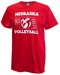 Huskers 5 National Champs Volleyball Tee - AT-B7506