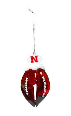 Huskers Football Bell Ornament Nebraska Cornhuskers, Nebraska  Holiday Items, Huskers  Holiday Items, Nebraska Huskers Football Bell Ornament , Huskers Huskers Football Bell Ornament