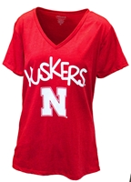 Huskers Big Fun VNeck Nebraska Cornhuskers, Nebraska  Ladies Tops, Huskers  Ladies Tops, Nebraska  Ladies T-Shirts, Huskers  Ladies T-Shirts, Nebraska  Ladies, Huskers  Ladies, Nebraska Red SS Vneck W Plus Klutch, Huskers Red SS Vneck W Plus Klutch