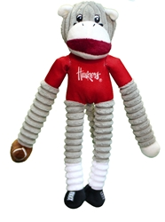 Huskers Sock Monkey Pet Toy Nebraska Cornhuskers, Nebraska Pet Items, Huskers Pet Items, Nebraska Huskers Sock Monkey Pet Toy, Huskers Huskers Sock Monkey Pet Toy