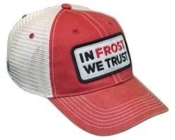 In Frost We Trust Trucker - Red Nebraska Cornhuskers, Nebraska  Mens Hats, Huskers  Mens Hats, Nebraska  Mens Hats, Huskers  Mens Hats, Nebraska In Frost We Trust Trucker - Red, Huskers In Frost We Trust Trucker - Red