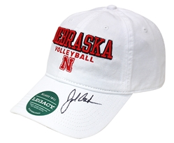 John Cook Autographed Huskers Volleyball Cap Nebraska Cornhuskers, husker volleyball, nebraska cornhuskers merchandise, husker merchandise, nebraska merchandise, husker memorabilia, husker autographed, nebraska cornhuskers autographed, John Cook autographed, John Cook signed, John Cook collectible, John Cook, nebraska cornhuskers memorabilia, nebraska cornhuskers collectible, John Cook Autographed  Volleyball