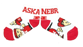 Kids Herbie Husker Lil Red Quarter Sock Nebraska Cornhuskers, Nebraska  Childrens, Huskers  Childrens, Nebraska  Kids, Huskers  Kids, Nebraska Kids Herbie Husker Lil Red Quarter Sock, Huskers Kids Herbie Husker Lil Red Quarter Sock