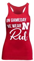 Ladies Gameday Wear Red Tank Nebraska Cornhuskers, Nebraska Womens Ladies T-Shirts, Huskers Womens Ladies T-Shirts, Nebraska  Ladies, Huskers  Ladies, Nebraska  Tank Tops, Huskers  Tank Tops, Nebraska Ladies Gameday Wear Red Tank, Huskers Ladies Gameday Wear Red Tank