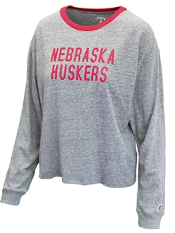 Ladies Nebraska Huskers Crop Nebraska Cornhuskers, Nebraska  Long Sleeve, Huskers  Long Sleeve, Nebraska  Ladies, Huskers  Ladies, Nebraska  Tops, Huskers  Tops, Nebraska  T-Shirts, Huskers  T-Shirts, Nebraska Ladies Nebraska Huskers Crop, Huskers Ladies Nebraska Huskers Crop