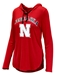 Ladies Nebraska Huskers LS Hooded Tee - AT-C5038