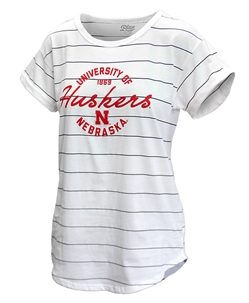 Ladies University of Nebraska Nora Striped Tee Nebraska Cornhuskers, Nebraska  Ladies T-Shirts, Huskers  Ladies T-Shirts, Nebraska  Ladies, Huskers  Ladies, Nebraska  Short Sleeve, Huskers  Short Sleeve, Nebraska Ladies University of Nebraska Nora Striped Tee, Huskers Ladies University of Nebraska Nora Striped Tee