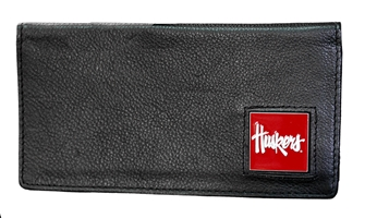 Leather Huskers Checkbook Cover Nebraska Cornhuskers, Nebraska  Mens Accessories, Huskers  Mens Accessories, Nebraska  Mens, Huskers  Mens, Nebraska  Bags Purses & Wallets, Huskers  Bags Purses & Wallets, Nebraska Bifold Leather Huskers Wallet, Huskers Bifold Leather Huskers Wallet