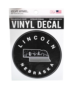 Lincoln Nebraska Skyline Decal Nebraska Cornhuskers, Nebraska Stickers Decals & Magnets, Huskers Stickers Decals & Magnets, Nebraska Star City Skyline Husker State Sticker, Huskers Star City Skyline Husker State Sticker