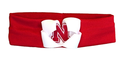 Nebraska Baby Headband White Bow Nebraska Cornhuskers, Nebraska  Infant, Huskers  Infant, Nebraska  Kids, Huskers  Kids, Nebraska  Head Bands, Huskers  Head Bands, Nebraska Nebraska Baby Headband White Bow, Huskers Nebraska Baby Headband White Bow