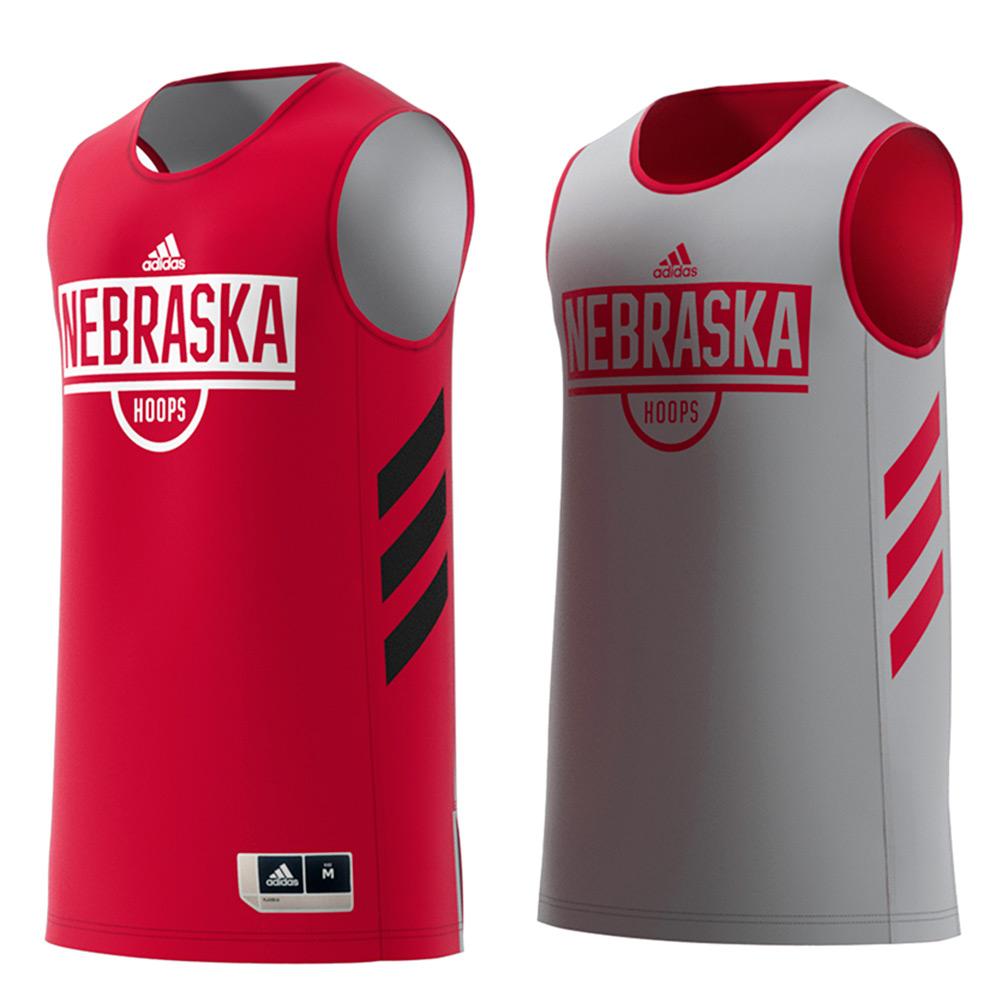 Adidas 2018 Nebraska Basketball Reversible Practice Jersey