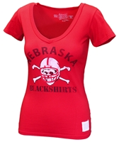 Nebraska Blackshirts Ladies Scoop V Tee Nebraska Cornhuskers, Nebraska  Ladies T-Shirts, Huskers  Ladies T-Shirts, Nebraska  Ladies Tops, Huskers  Ladies Tops, Nebraska  Ladies, Huskers  Ladies, Nebraska Blackshirts, Huskers Blackshirts, Nebraska  Short Sleeve, Huskers  Short Sleeve, Nebraska Red SS Vneck W Blackshirts Tee RB, Huskers Red SS Vneck W Blackshirts Tee RB