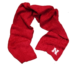 Nebraska Cable Knit Scarf Nebraska Cornhuskers, Nebraska  Ladies, Huskers  Ladies, Nebraska  Ladies Accessories, Huskers  Ladies Accessories, Nebraska Nebraska Cable Knit Scarf, Huskers Nebraska Cable Knit Scarf