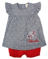 Nebraska Chambray Infant Dress Set Nebraska Cornhuskers, Nebraska  Infant, Huskers  Infant, Nebraska Chambray Dress Set Polka Dot Lk, Huskers Chambray Dress Set Polka Dot Lk