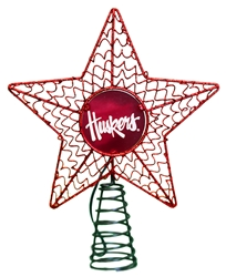Nebraska Christmas Star Tree Topper Nebraska Cornhuskers, Nebraska  Holiday Items, Huskers  Holiday Items, Nebraska Nebraska Metal Star Tree Topper Memory Company, Huskers Nebraska Metal Star Tree Topper Memory Company