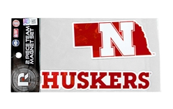 Nebraska Duo Magnet Set Nebraska Cornhuskers, Nebraska Stickers Decals & Magnets, Huskers Stickers Decals & Magnets, Nebraska Nebraska Duo Magnet Set, Huskers Nebraska Duo Magnet Set