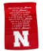 Nebraska Fight Song Banner Garden Flag - FW-B7006